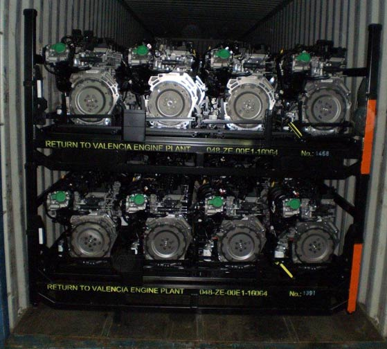 shipment of Ford engines
