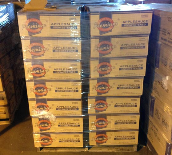 Food stuffs for pallet delivery